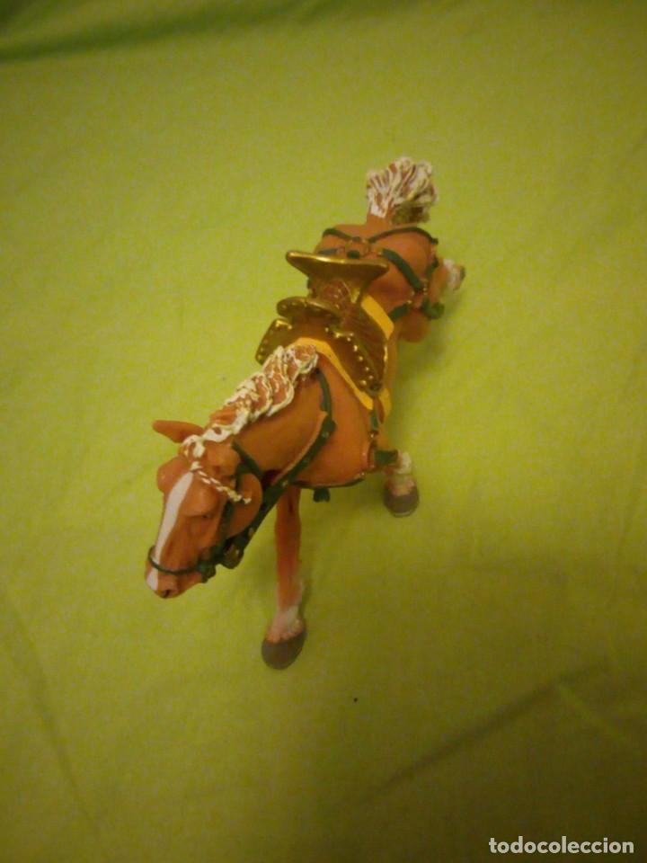 Figuras de Goma y PVC: Bonito caballo ensillado a galope de pvc plastoy chima - Foto 3 - 195847632