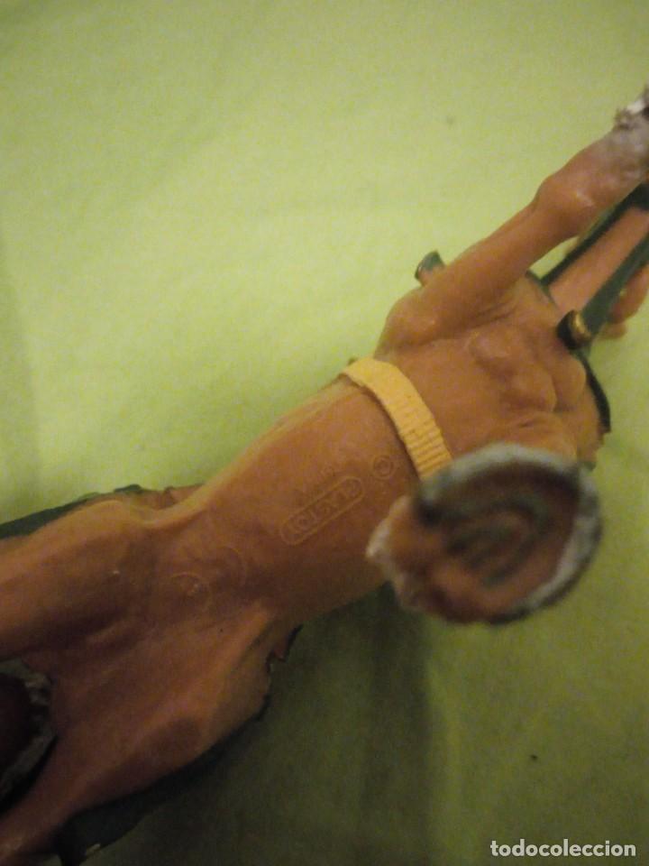 Figuras de Goma y PVC: Bonito caballo ensillado a galope de pvc plastoy chima - Foto 6 - 195847632