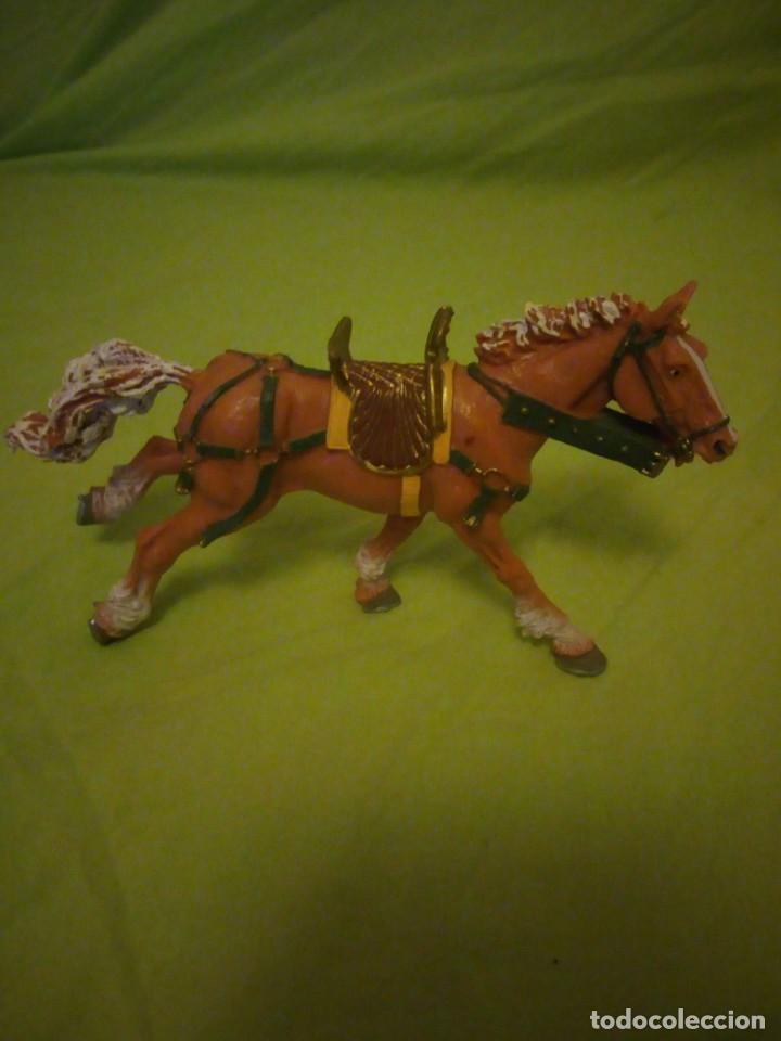 Figuras de Goma y PVC: Bonito caballo ensillado a galope de pvc plastoy chima - Foto 7 - 195847632