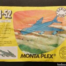 Figuras de Goma y PVC: SOBRE CERRADO MONTAPLEX SERIE 600 B-52. Lote 195917462
