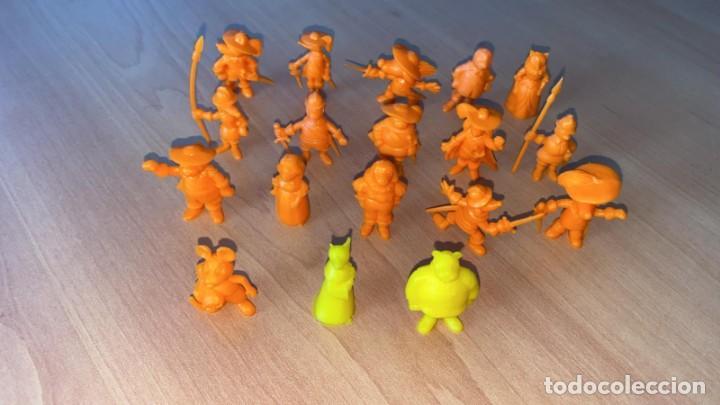 Figuras de Goma y PVC: 18 Figuras COLECCION COMPLETA DARTACAN y LOS MOSQUEPERROS DUNKIN PHOSKITOS AÑOS 80 - Foto 4 - 57593250