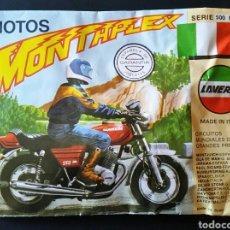 Figuras de Goma y PVC: SOBRE CERRADO MONTAPLEX SERIE 500 NÚMERO 1 MOTO LAVERDA. Lote 195981567