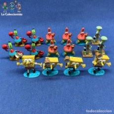 Figuras de Goma y PVC: LOTE 16 FIGURAS DE BOBO ESPONJA - MARCA VIACON . Lote 196049912