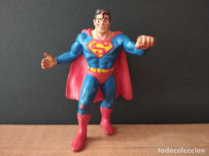 FIGURA DC SUPERMAN-9CM APROX.-COMICS SPAIN-1988-VER FOTOS-B1-V1 (Juguetes - Figuras de Goma y Pvc - Comics Spain)
