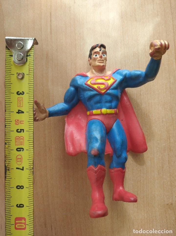 Figuras de Goma y PVC: FIGURA DC SUPERMAN-9cm aprox.-COMICS SPAIN-1988-VER FOTOS-B1-V1 - Foto 8 - 196209677