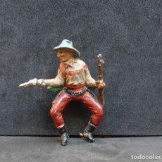 Figurines en Caoutchouc et PVC: TEIXIDO COWBOY A CABALLO. Lote 196295116