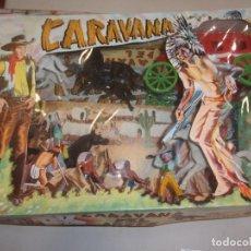 Figuras de Goma y PVC: SOTORRES,CAJA CARAVANA DEL OESTE. Lote 196332892