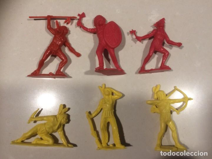 INDIOS MONOCOLOR PVC - MODELOS DE TEIXIDO 6-7 CM (Juguetes - Figuras de Goma y Pvc - Teixido)