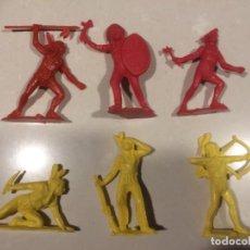 Figurines en Caoutchouc et PVC: INDIOS MONOCOLOR PVC - MODELOS DE TEIXIDO 6-7 CM. Lote 196445005