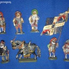 Figuras de Goma y PVC: SOLDADOS DE PLOMO - GRUPO DE LANSQUENETES - 54MM. GIM. Lote 196483708
