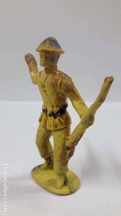 Figuras de Goma y PVC: ANTIGUO SOLDADO DE INFANTERIA . REALIZADO POR ALCA - CAPELL . AÑOS 50 EN GOMA - Foto 3 - 196576127