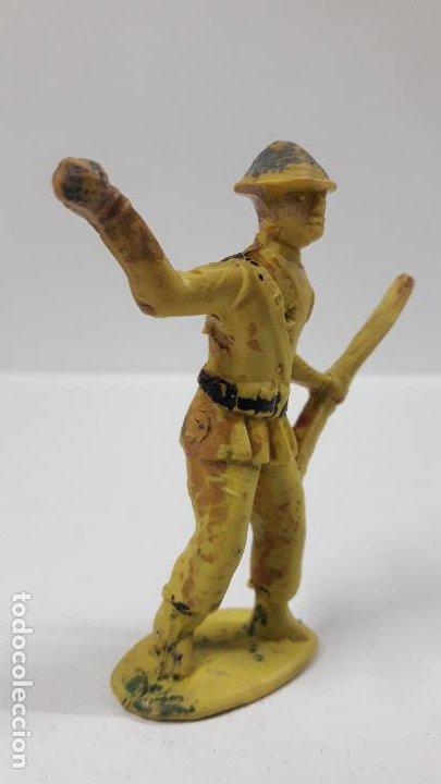 Figuras de Goma y PVC: ANTIGUO SOLDADO DE INFANTERIA . REALIZADO POR ALCA - CAPELL . AÑOS 50 EN GOMA - Foto 4 - 196576127