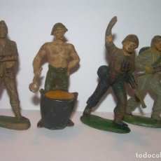 Figuras de Goma y PVC: CUATRO ANTIGUAS FIGURAS DE GOMA.. Lote 196579316