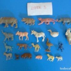 Figuras de Goma y PVC: LOTE DE 20 MUÑECOS DE ANIMALES DE COMANSI Y OTROS ANTIGUOS DE KIOSKO LEER BIEN ***** LOTE 3. Lote 196648240