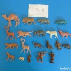 Figuras de Goma y PVC: LOTE DE 20 MUÑECOS DE ANIMALES DE COMANSI Y OTROS ANTIGUOS DE KIOSKO LEER BIEN ***** LOTE 8. Lote 196648325