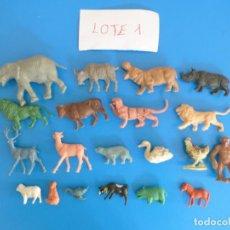 Figuras de Goma y PVC: LOTE DE 20 MUÑECOS DE ANIMALES DE COMANSI Y OTROS ANTIGUOS DE KIOSKO LEER BIEN ***** LOTE 1. Lote 196648452