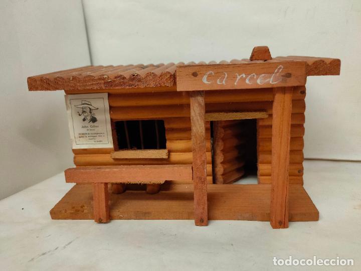 Figuras de Goma y PVC: Casas de madera fabricadas para Teixido por Juguetes Gracia. Herrería,Banco,Almacen y Carcel.Sin uso - Foto 2 - 196773930