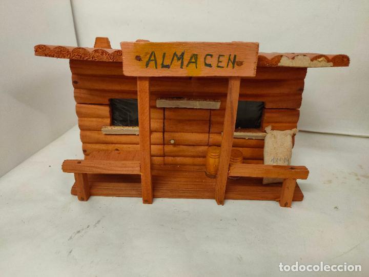 Figuras de Goma y PVC: Casas de madera fabricadas para Teixido por Juguetes Gracia. Herrería,Banco,Almacen y Carcel.Sin uso - Foto 8 - 196773930