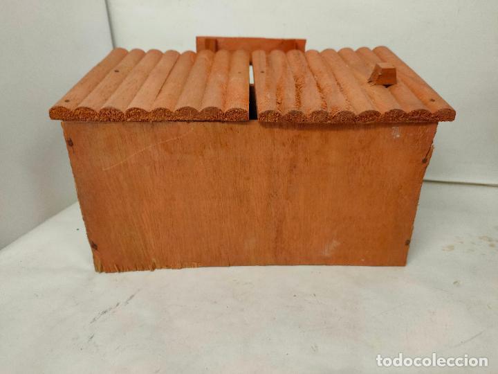 Figuras de Goma y PVC: Casas de madera fabricadas para Teixido por Juguetes Gracia. Herrería,Banco,Almacen y Carcel.Sin uso - Foto 9 - 196773930