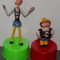 Figuras de Borracha e PVC: FIGURAS DE MUELLE DEL D. QUIJOTE Y SANCHO PANZA. Lote 196805566