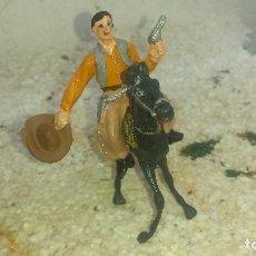 Figuras de Goma y PVC: VAQUERO Y CABALLO DE COMANSI 1º EPOCA. Lote 196894668