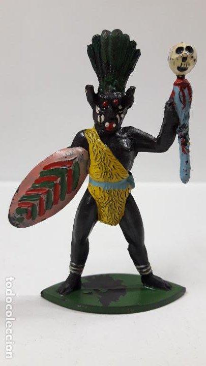 HECHICERO - BRUJO AFRICANO . REALIZADO POR ALCA - CAPELL . AÑOS 50 EN GOMA (Juguetes - Figuras de Goma y Pvc - Capell)