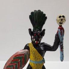 Figuras de Goma y PVC: HECHICERO - BRUJO AFRICANO . REALIZADO POR ALCA - CAPELL . AÑOS 50 EN GOMA. Lote 196907588