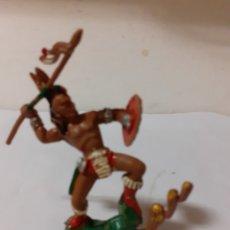 Figuras de Goma y PVC: LAFREDO SERIE GRANDE GUERRERO INDIO. Lote 196917520
