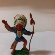 Figuras de Goma y PVC: LAFREDO SERIE GRANDE JEFE INDIO. Lote 196917975