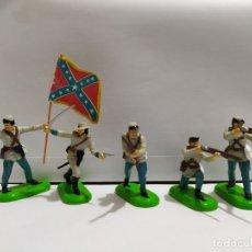 Figuras de Goma y PVC: CONFEDERADOS AMERICANOS CIVIL WAR BRITAINS NUEVOS. Lote 196986017