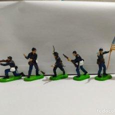 Figuras de Goma y PVC: FEDERALES AMERICANOS CIVIL WAR BRITAINS NUEVOS. Lote 196986025