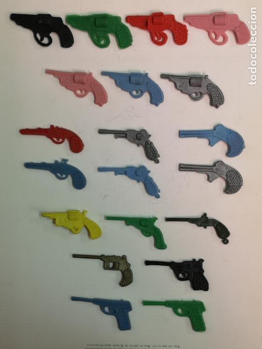 20 PISTOLAS DE PLÁSTICO REGALO DE LAS PIPAS CHURRUCA (Juguetes - Figuras de Goma y Pvc - Dunkin)