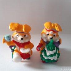 Figuras Kinder: 2 FIGURAS DE CONEJO KINDER FERRERO. Lote 197170318