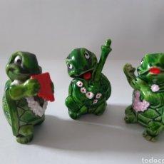 Figuras Kinder: LOTE 3 FIGURAS TORTUGA KINDER FERRERO. Lote 197175690
