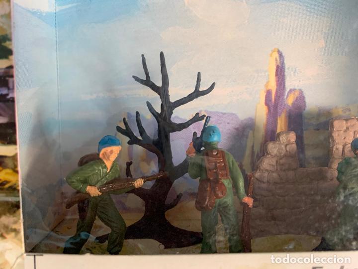 Figuras de Goma y PVC: JECSAN CASCOS AZULES RFA 40 SOLDADOS - Foto 2 - 197201201