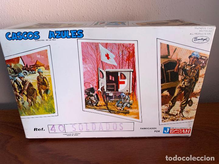 Figuras de Goma y PVC: JECSAN CASCOS AZULES RFA 40 SOLDADOS - Foto 6 - 197201201