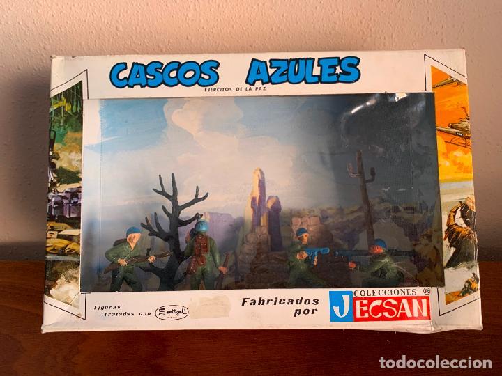 JECSAN CASCOS AZULES RFA 40 SOLDADOS (Juguetes - Figuras de Goma y Pvc - Jecsan)