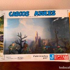 Figuras de Goma y PVC: JECSAN CASCOS AZULES RFA 40 SOLDADOS. Lote 197201201