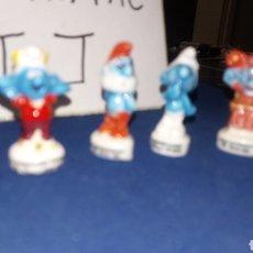 Figuras de Goma y PVC: LOTE 8 MINI FIGURA MUÑECO CERAMICA VIDRIADA LOS PITUFOS PAPA GARGAMEL INEDITO EN TC 3 CM APROX PEYO. Lote 197211045
