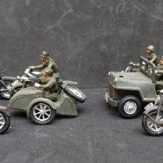 Figurines en Caoutchouc et PVC: TEIXIDO DESFILE JEPP SIDECAR Y MOTOCICLETAS. Lote 197247115
