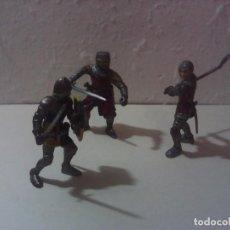 Figuras de Goma y PVC: LOTE 3 SOLDADOS MEDIEVALES SCHLEICH. Lote 197257226