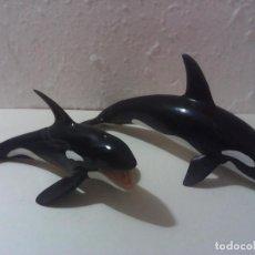 Figuras de Goma y PVC: LOTE 2 ORCAS SCHLEICH. Lote 197257251