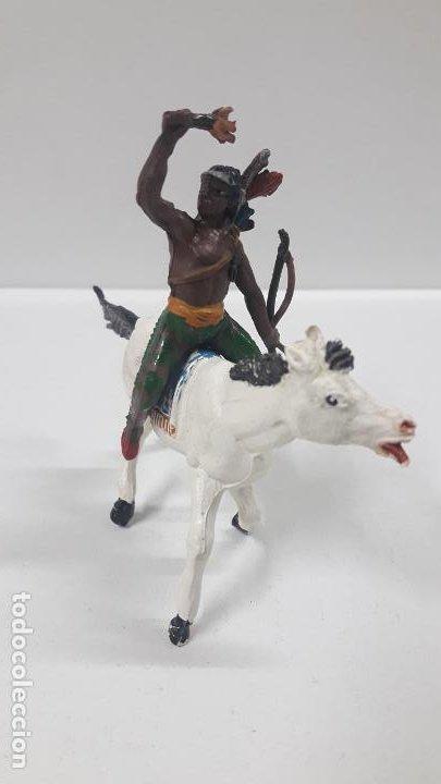 Figuras de Goma y PVC: GUERRERO INDIO PARA CABALLO . REALIZADO POR TEIXIDO . AÑOS 50 EN GOMA . CABALLO NO INCLUIDO - Foto 2 - 197390170