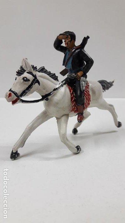 Figuras de Goma y PVC: CHARRO A CABALLO . REALIZADO POR PECH . SERIE CHARROS . AÑOS 50 EN GOMA - Foto 2 - 197390648