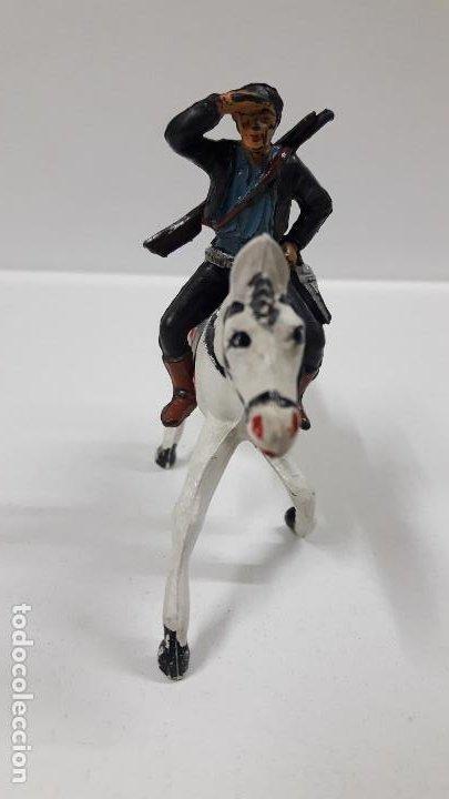Figuras de Goma y PVC: CHARRO A CABALLO . REALIZADO POR PECH . SERIE CHARROS . AÑOS 50 EN GOMA - Foto 3 - 197390648