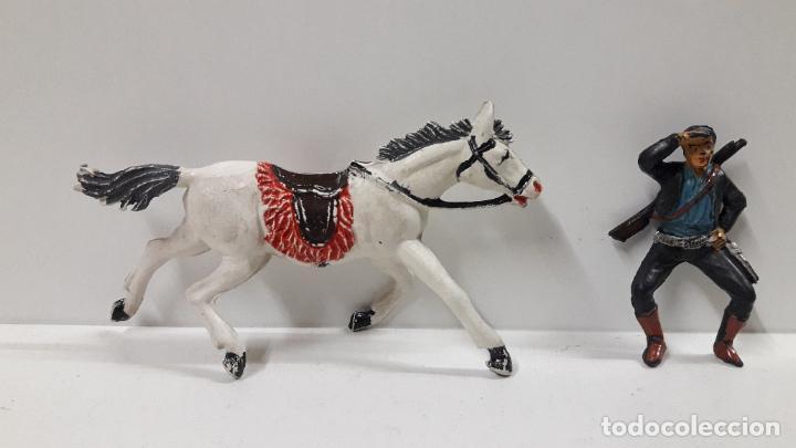 Figuras de Goma y PVC: CHARRO A CABALLO . REALIZADO POR PECH . SERIE CHARROS . AÑOS 50 EN GOMA - Foto 7 - 197390648