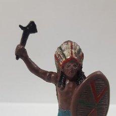 Figuras de Goma y PVC: JEFE INDIO . REALIZADO POR TEIXIDO . AÑOS 50 EN GOMA. Lote 197409761