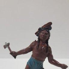 Figuras de Goma y PVC: GUERRERO INDIO . REALIZADO POR TEIXIDO . AÑOS 50 EN GOMA. Lote 197410155