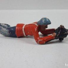 Figuras de Goma y PVC: ANTIGUO SOLDADO DE INFANTERIA - AMERICANO . REALIZADO POR ALCA - CAPELL . AÑOS 50 EN GOMA. Lote 197413155