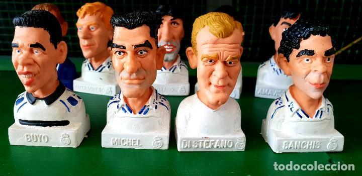 Figuras de Goma y PVC: Colección de 13 Figuras Históricas Bustos Real Madrid Cómics Spain - Foto 2 - 197413696